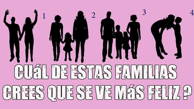 ¿Cuál de estas familias crees que se ve más feliz? Tu respuesta te dirá cuál es tu mayor anhelo
