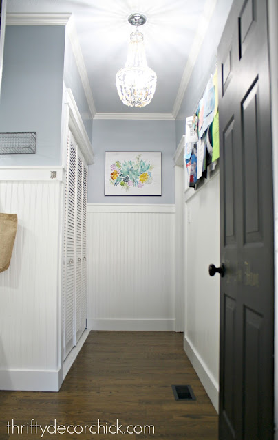 Bright mud room makeover