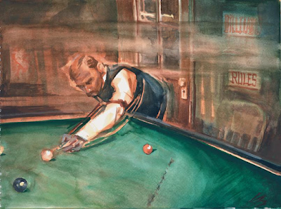 morgan earp plays pool