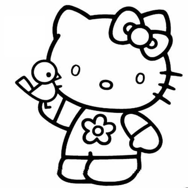 Hello Kitty Coloring Pages Cartoons Coloringarena Hello Kitty