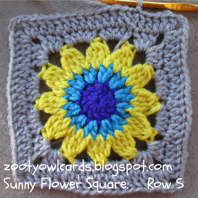 Sunflower Granny Square
