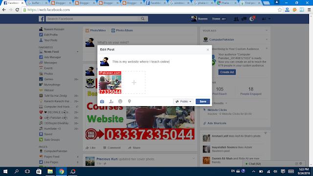Delete Facebook Post - Edit it save now