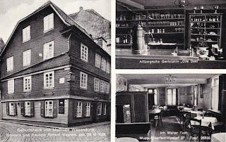 """Postkarte mit dem """"angeblichen"""" Geburtshaus von Mathilde Wesendonck"""