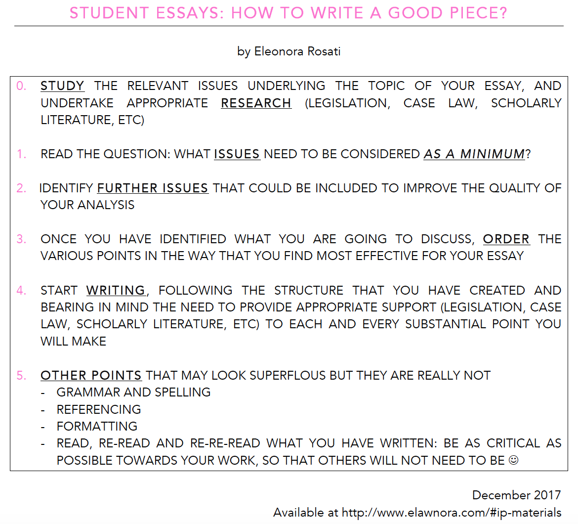 How to write a good application essay in an exam