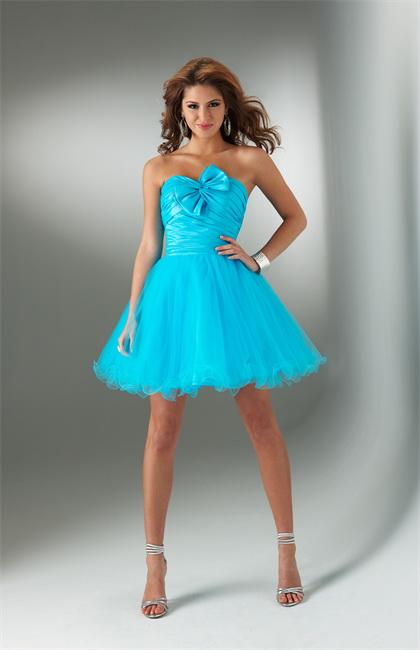 Short Blue Prom Dresses 2012