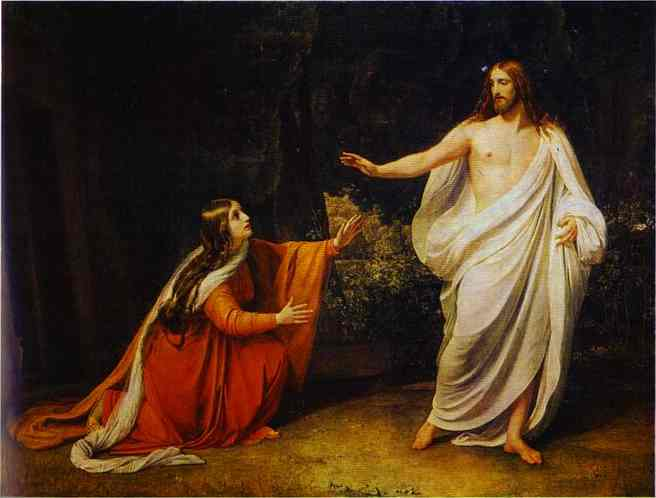 Jesus met the women on their way and greeted them. Matthew 28:9
