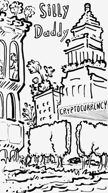 Silly Daddy Cryptocurrency Comic panel 1 by Joe Chiappetta