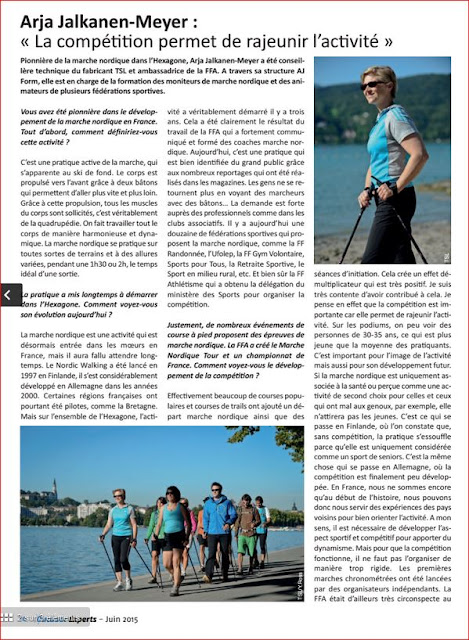 Interview de l'Expert en Marche Nordique dans Outdoor Experts Juin 2015