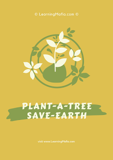 Poster on Save Trees With Slogan