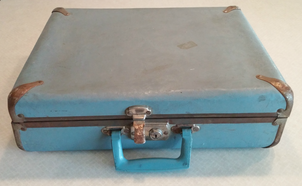 vintage suitcase before