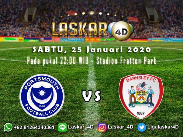 Prediksi Pertandingan Bola Portsmouth Vs Barnsley 25 Januari 2020