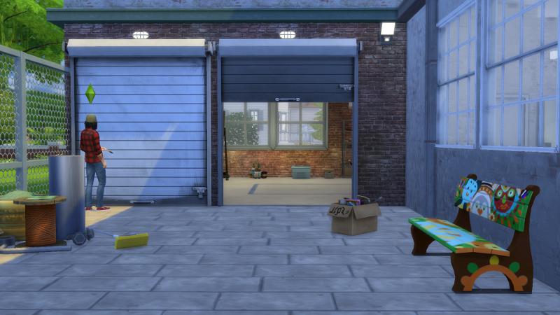 My sims 4 blog open garage door by gatochwegchristel for Sims 4 garage
