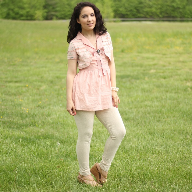Pink Vest Tunic Top