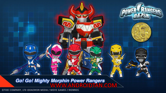 Free Download Power Rangers Dash Mod Apk v1.6.3 (Unlimited Money) Android Terbaru 2017