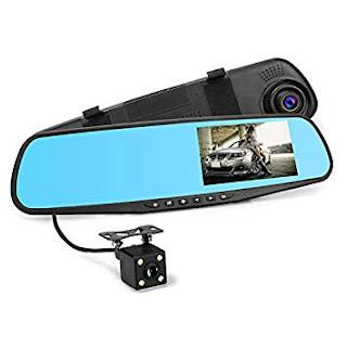 specchio monitor auto dvr telecamera retromarcia andowl