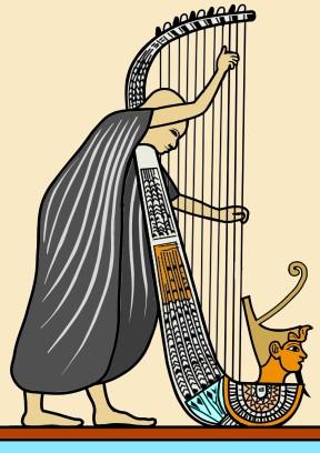 古代エジプトのハープ