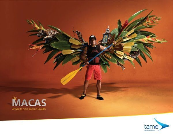 Retoque digital campaña publicitaria de aerolinea
