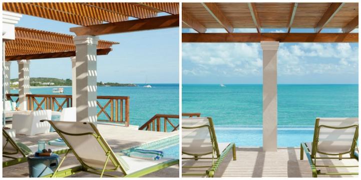 Coastal covered lanai sun lounge area