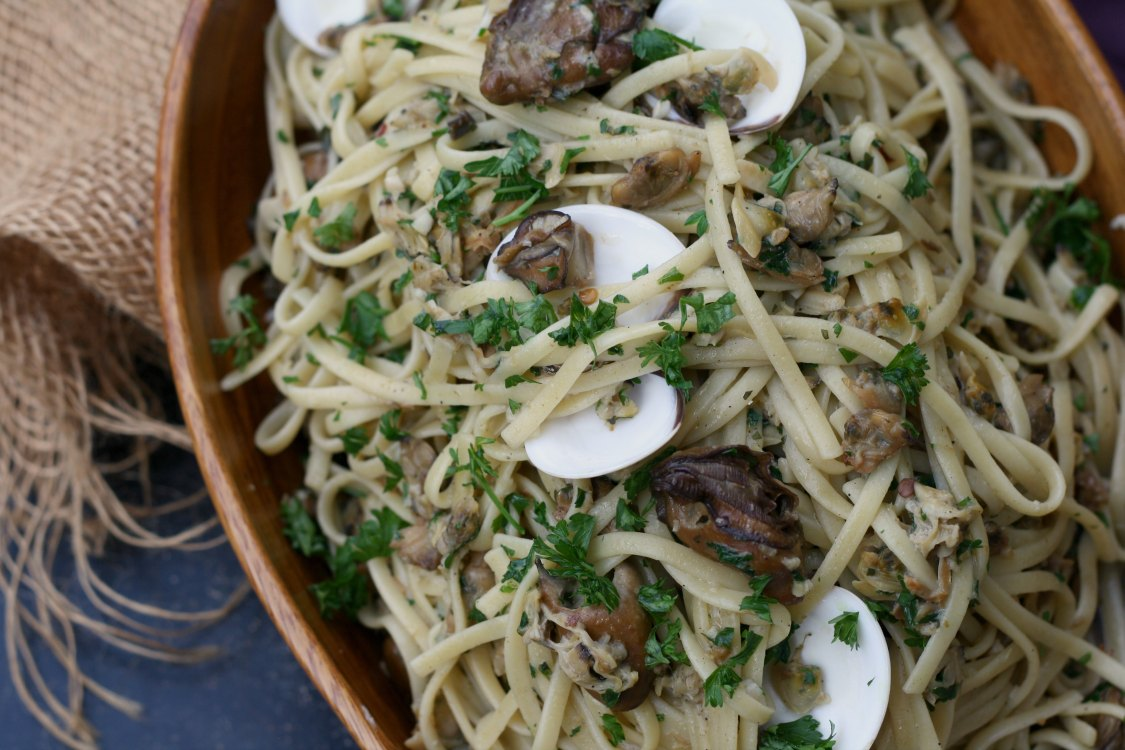 Smoked Oysters, Clams, and Cockles Linguine | Game of Thrones