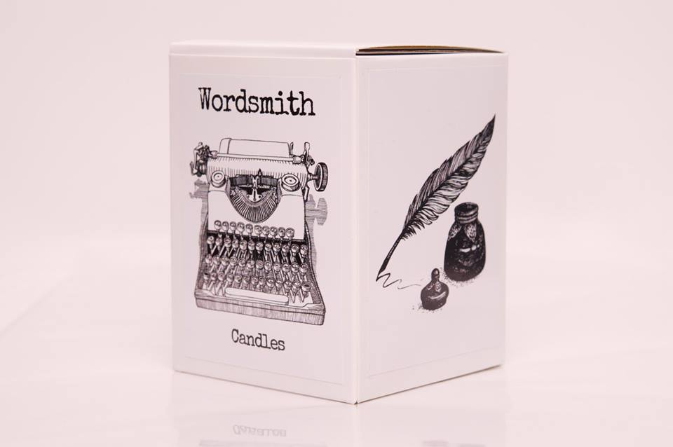 wordsmith candle packaging