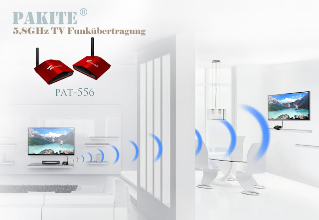 PAT-556 tv funkübertragung, tv signal per funk übertragen