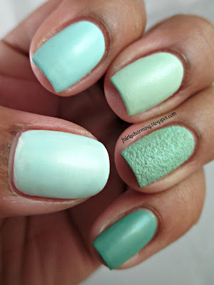 Mint Manis for Talia Joy, mint, ombre, nails, nail art, nail design, mani