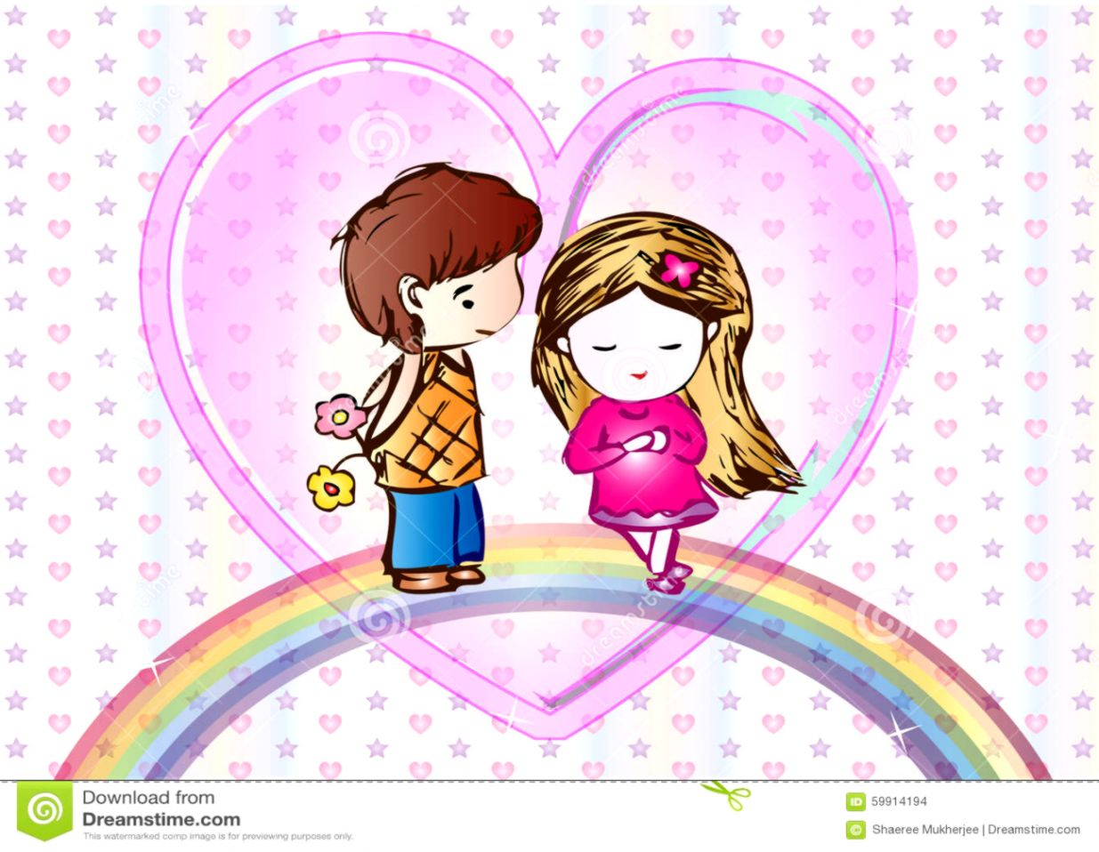 cute love cartoon wallpaper stock vector illustration of couple