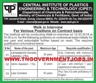 CIPET-WALK-IN-INTERVIEW-JOBS-TNGOVERNMENTJOBS-IN