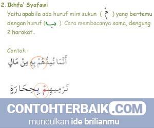 Contoh Ikhfa Syafawi