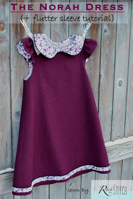 The Norah Dress pattern tour + Flutter Sleeve tutorial