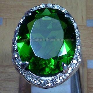 Cincin Batu Permata Green Tektite - ZP 951