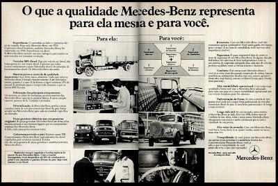 propaganda caminhão e ônibus Mercedes-Benz - 1977. propaganda anos 70. propaganda carros anos 70. reclame anos 70. Oswaldo Hernandez..