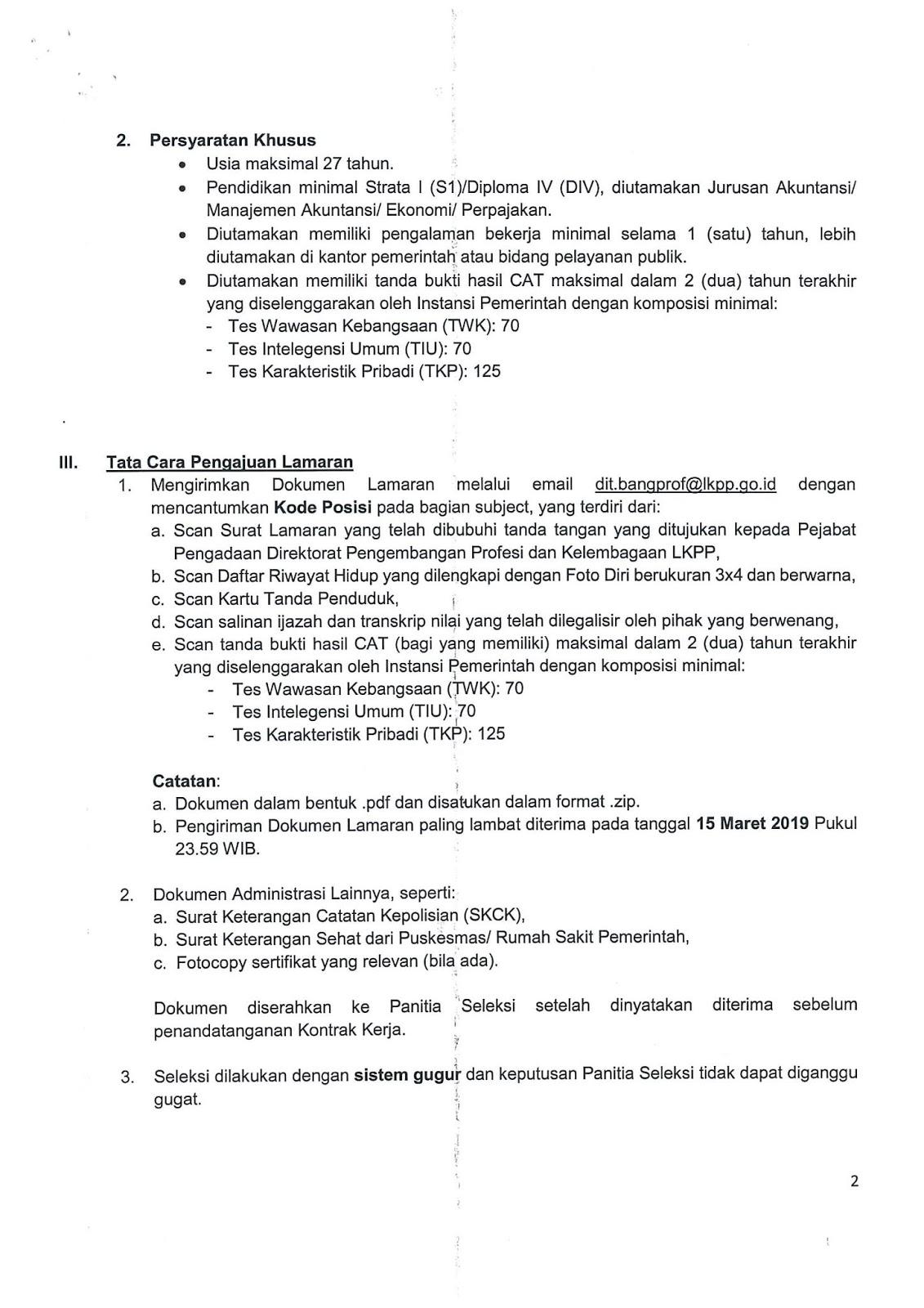 Lowongan Kerja Direktorat Pengembangan Profesi dan Kelembagaan LKPP Maret 2019