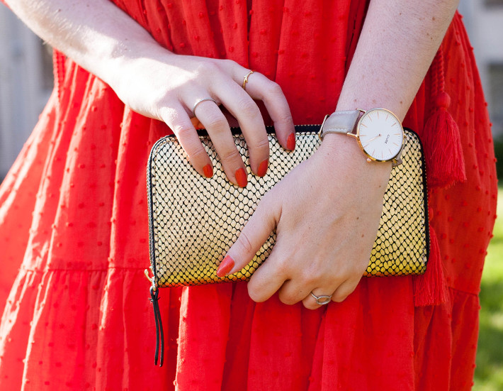 gold & Other Stories clutch, Cluse Watch, diamanti per tutti rings