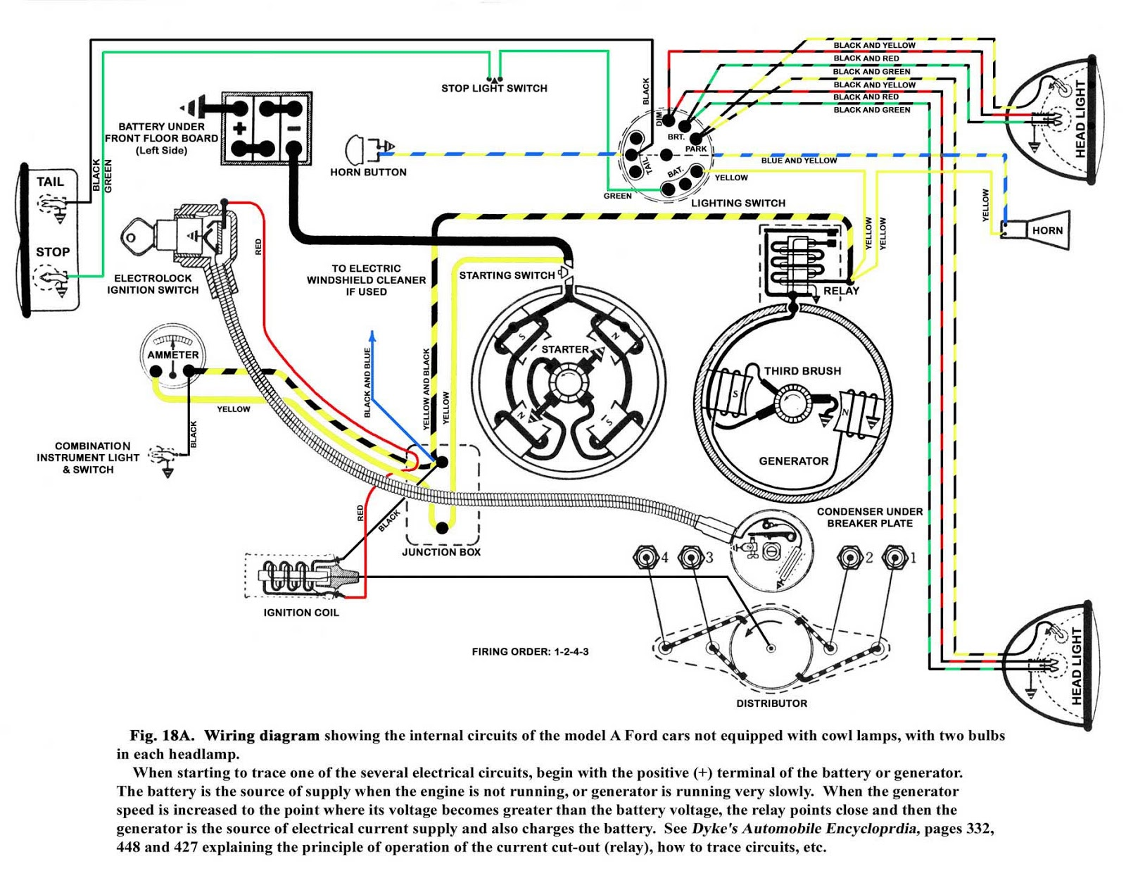 1928 ford model a wiring diagram the model a ford, henry and that era: ignition trouble ... ford model a electrical diagram