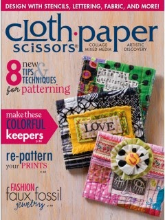"""Graffiti Journals"" Article in Jan/Feb 2015 issue of Cloth,Paper, Scissors Magazine"