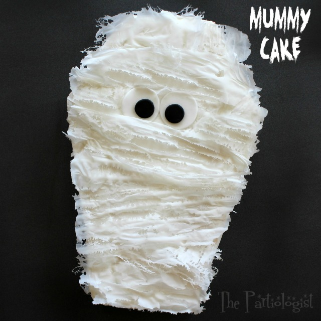 The Partiologist Mummy Cake With Edible Gauze
