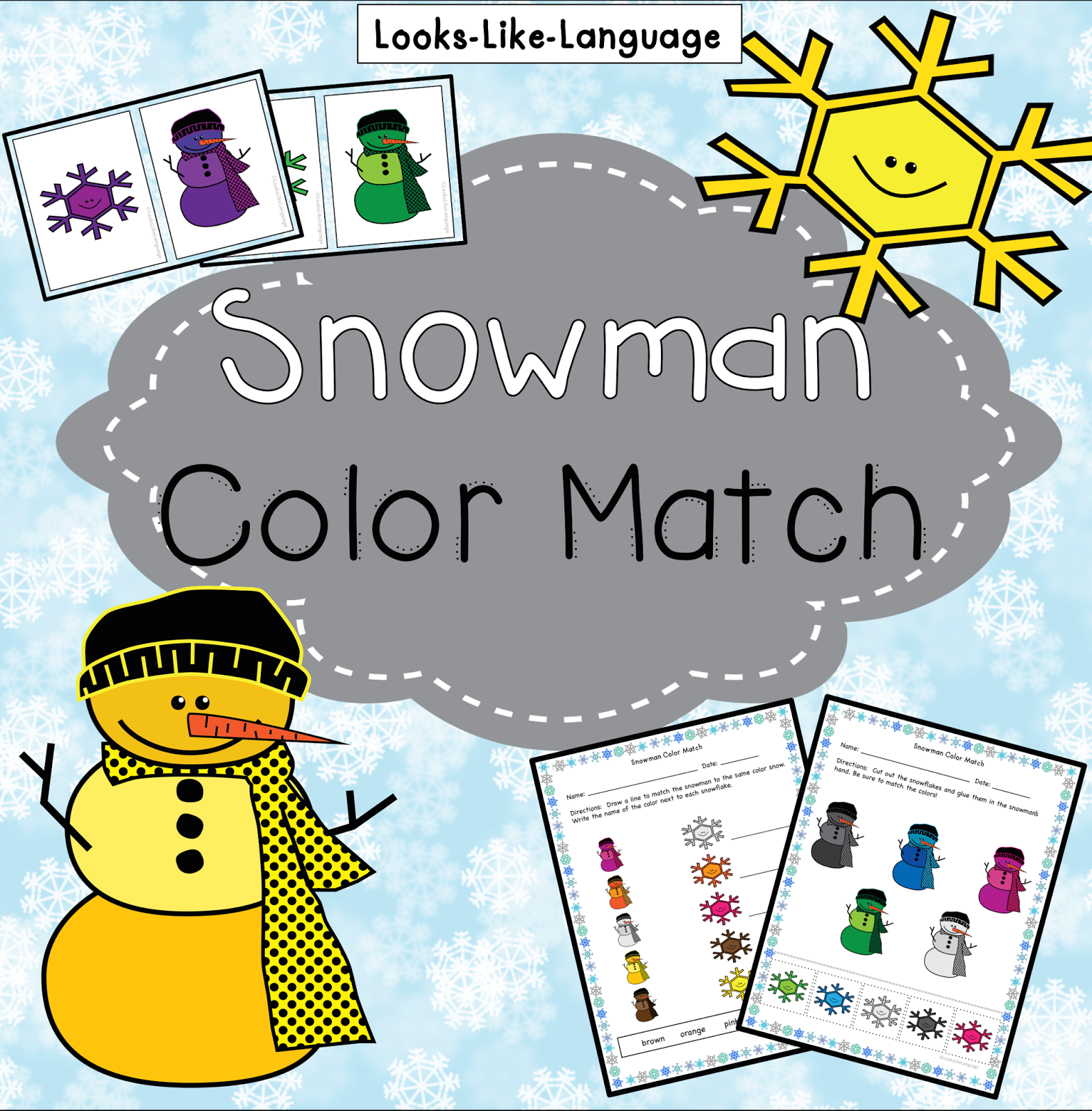 Snowman Freebie 2 By Looks Like Language