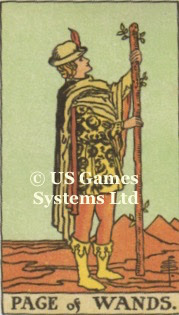 Page of Wands | US Games Ltd | Tarot Thrones