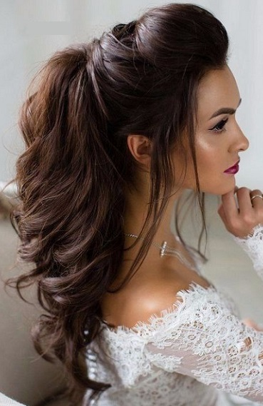 Peinados de novia pelo largo y liso