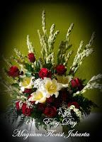 Bunga Mawar Merah dan Sedap Malam