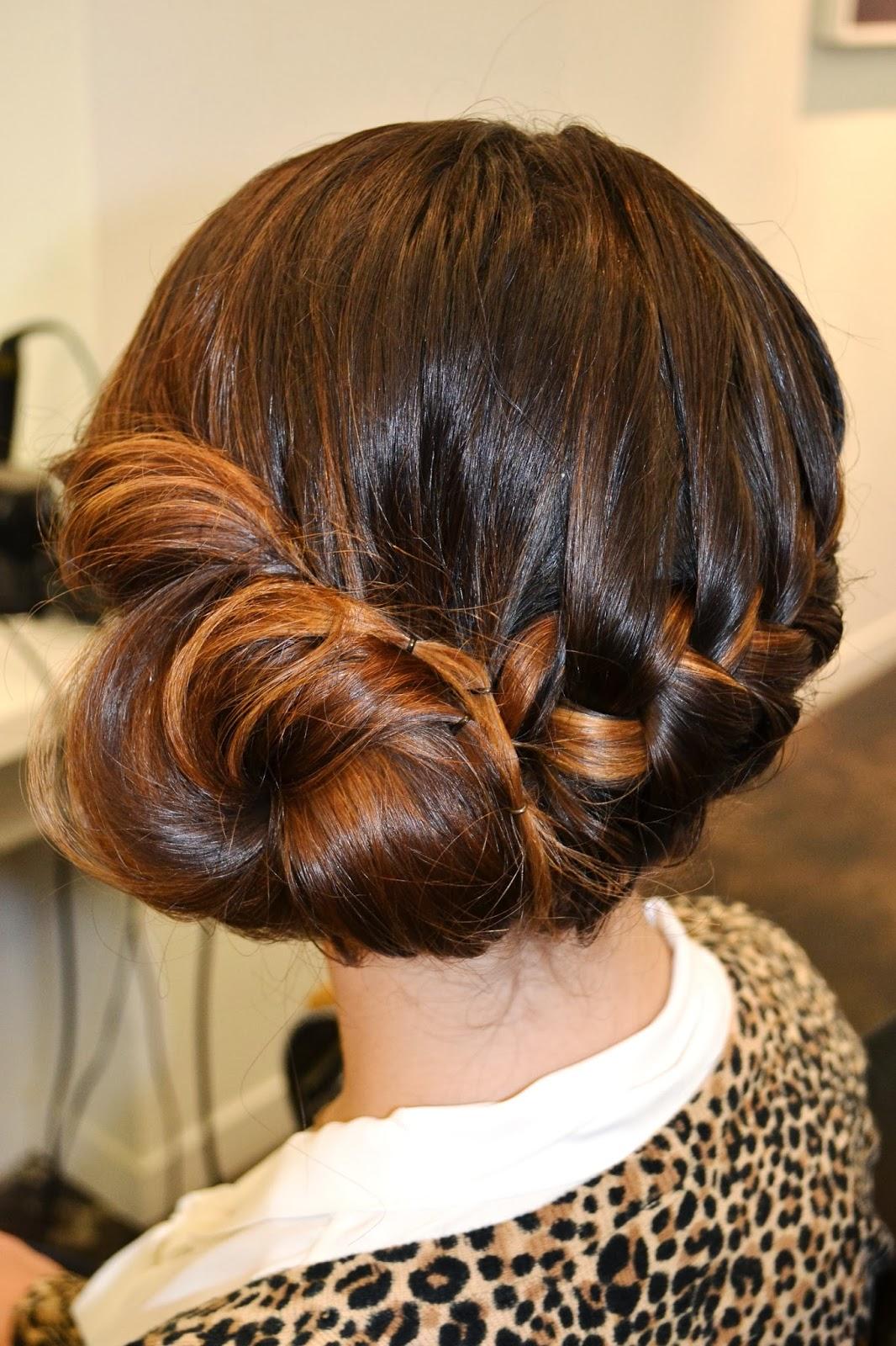 beauty girl musings: hair therapy: create a braid bun blend