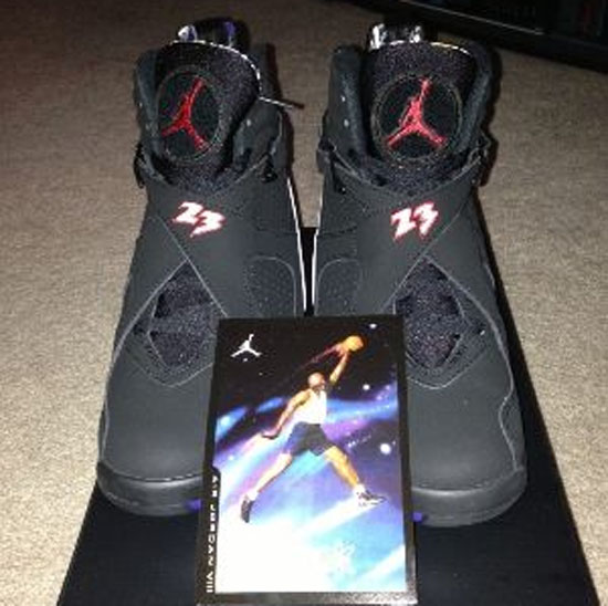 0c5e02398a2 ... czech air jordan 8 retro playoff black varsity red white bright concord  available early on ebay