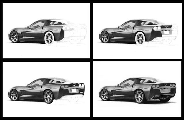 karakalem spor araba çizimi adım adım resimli