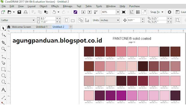 Membuat Color Swatch Pantone (kumpulan kotak warna pantone