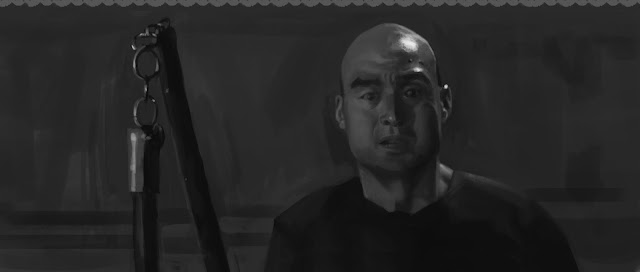 illustration, fantasyart, art, douglas deri, deri,paint,photoshop,sketchbook,wip, studies,crouching tiger, hidden dragon, black and white