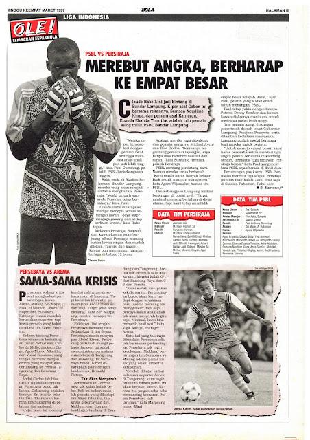 LIGA INDONESIA: PSBL VS PERSIRAJA