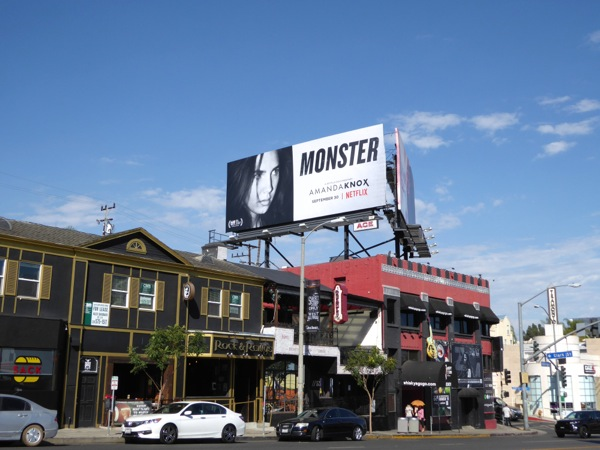 Amanda Knox Monster billboard