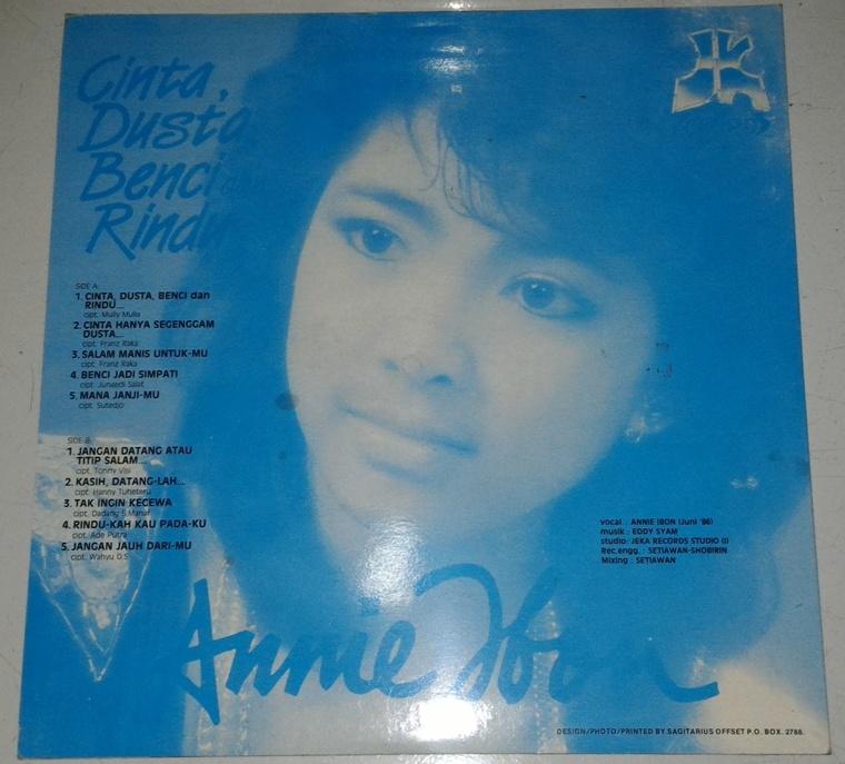 Citaten Annie Ibon : Vinyl annie ibon vol cinta dusta benci dan rindu