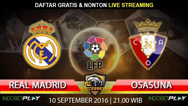 Prediksi Real Madrid vs Osasuna 10 September 2016 (Liga Spanyol)